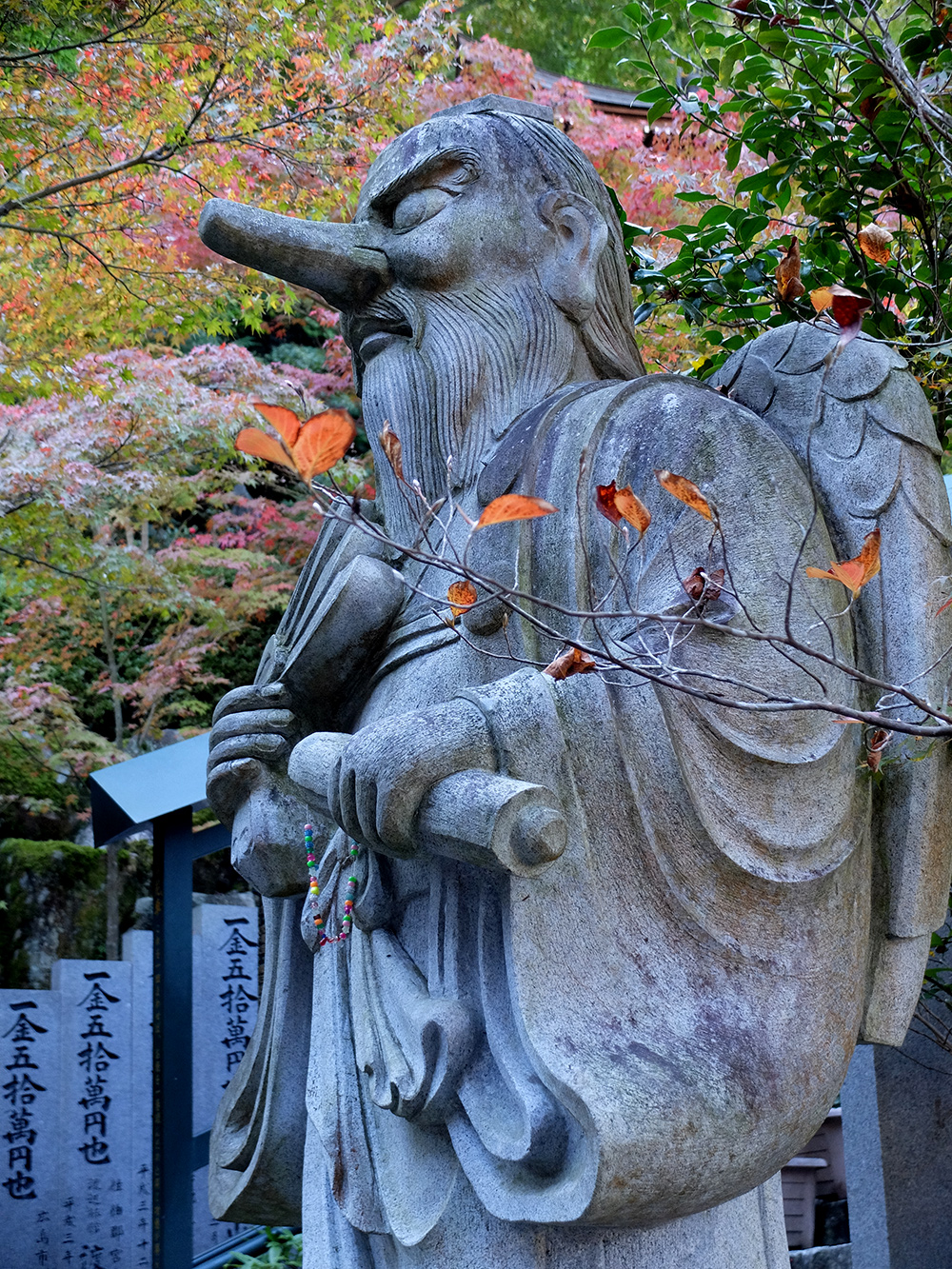 Tengu, temple Daisho-in, Miyajima