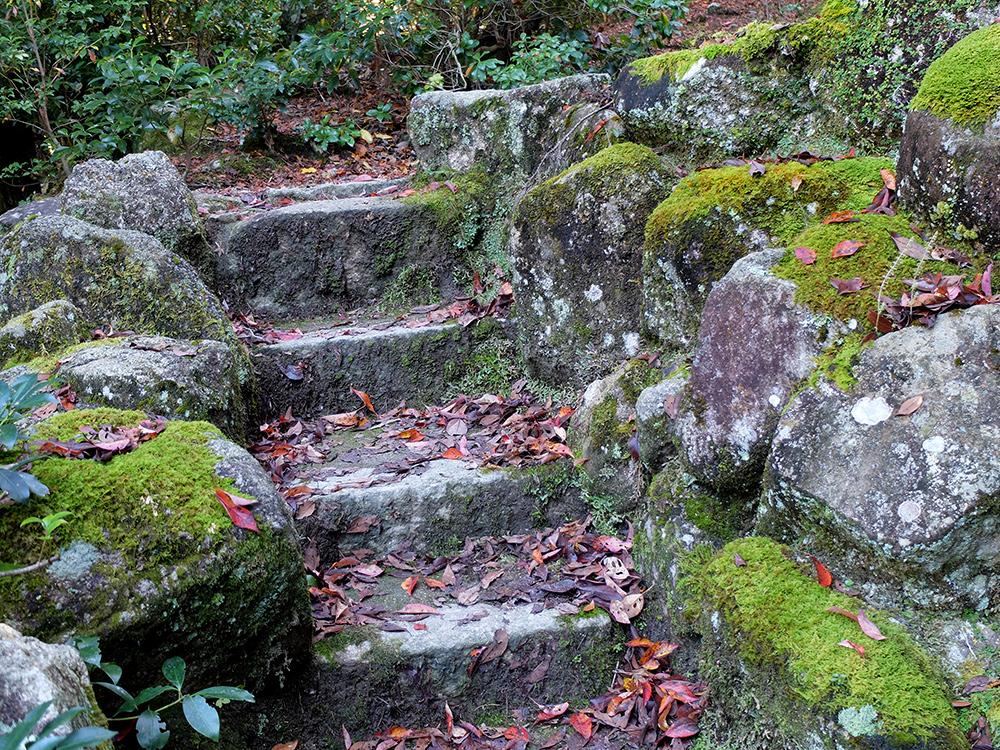Chemin de pierre et de mousse, Parc Momijidani, Miyajima
