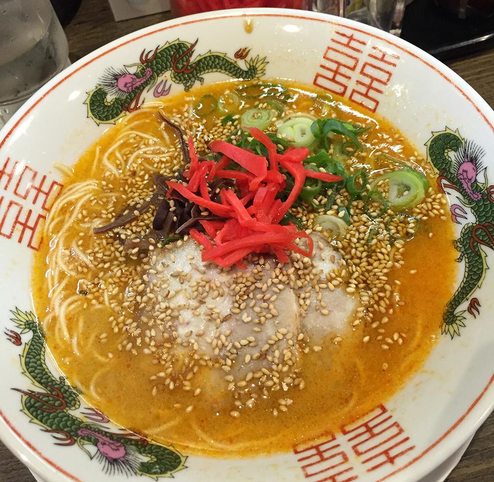 Des ramen rouges au tonkotsu chez 一竜 Ichiryū à Hiroshima