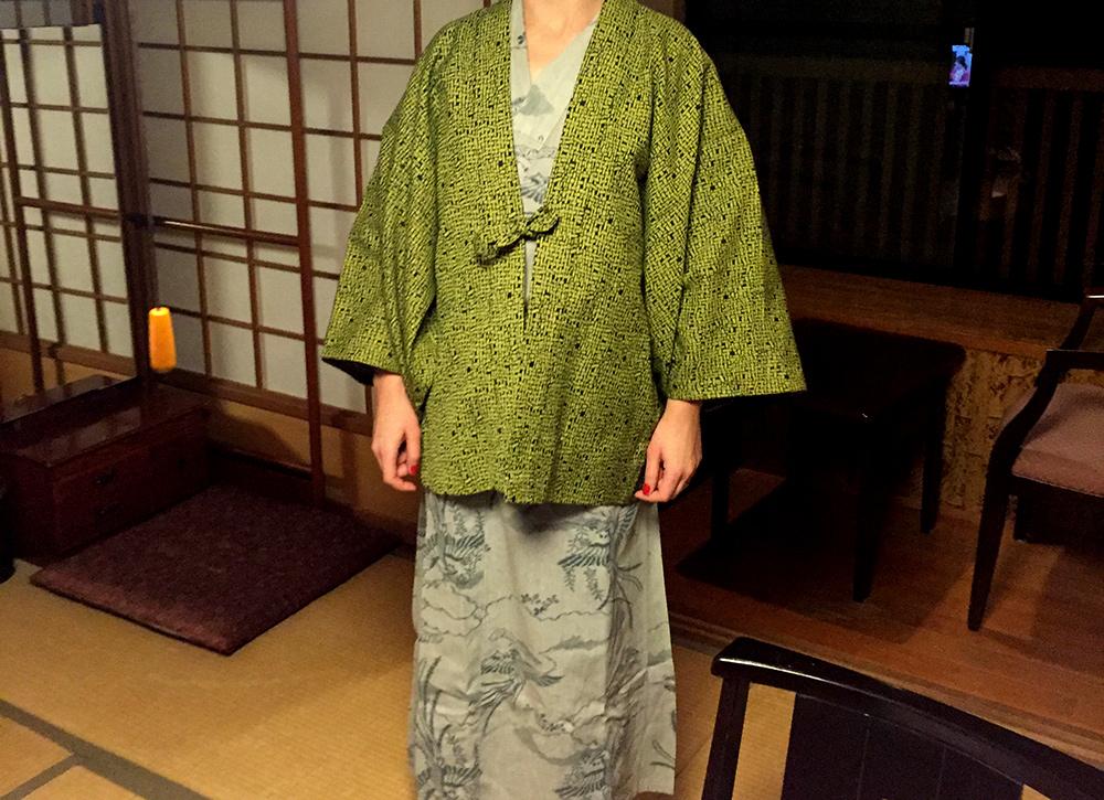 en yukata et haori au ryokan
