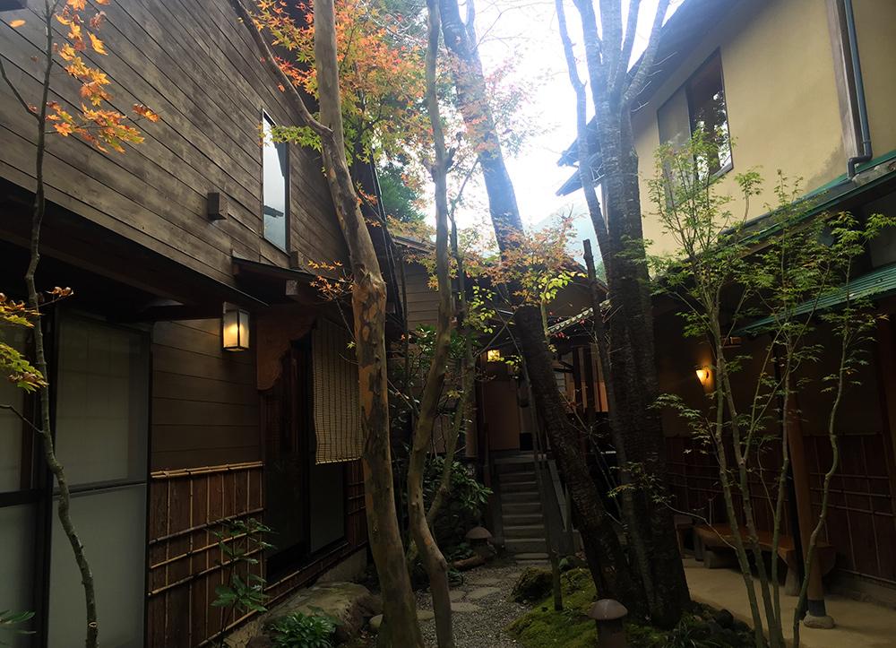 Jardin intérieur du ryokan Ichizen