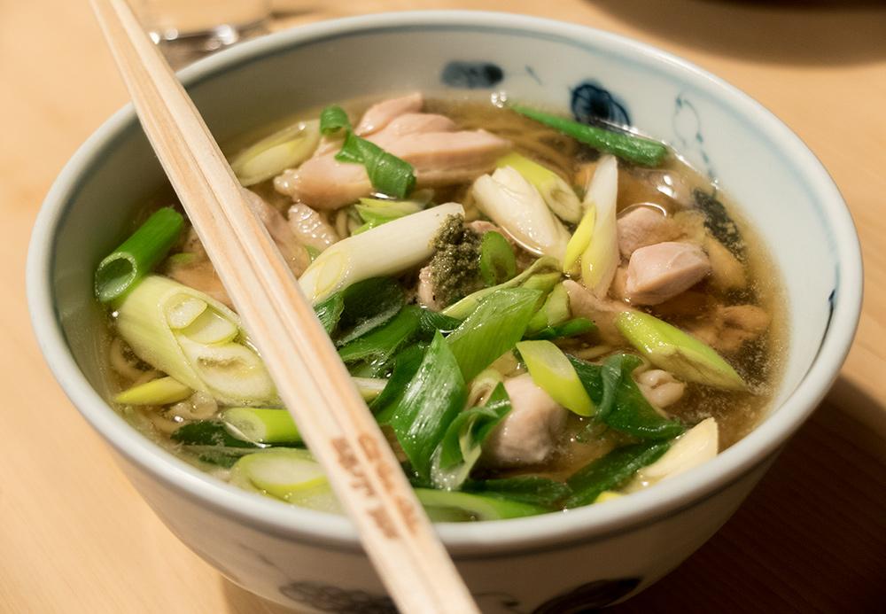 Soba au poulet (鳥なんば Tori nanba) à Gonbéé (権兵衛)