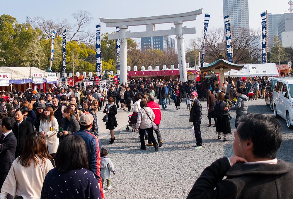 sanctuaire Gokoku-jinja, Hiroshima, nouvel an, shogatsu