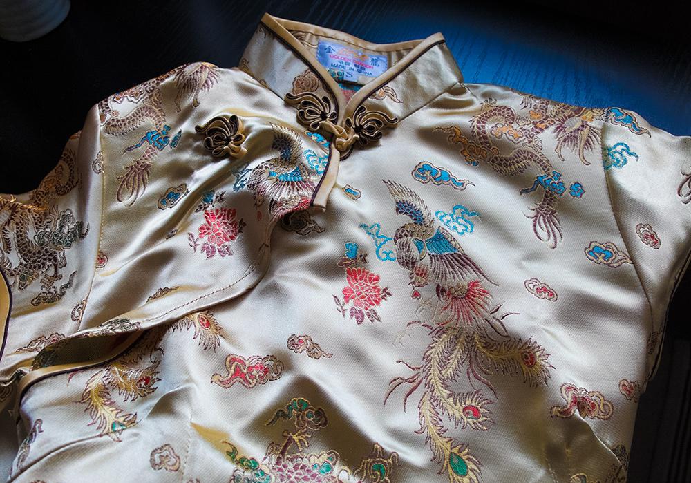 Robe chinoise (ou Chinese dress comme ils disent au Japon) en provenance de Taïwan