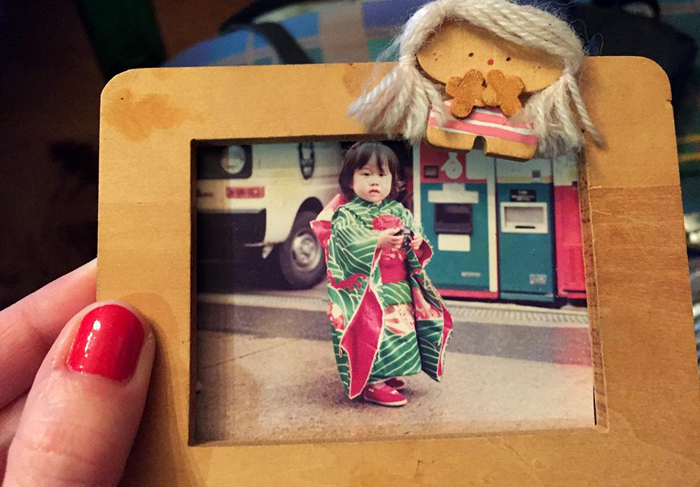 Shiho pour le Shichi-go-san (fête des enfants de 3, 5 et 7 ans) pour ses 3 ans