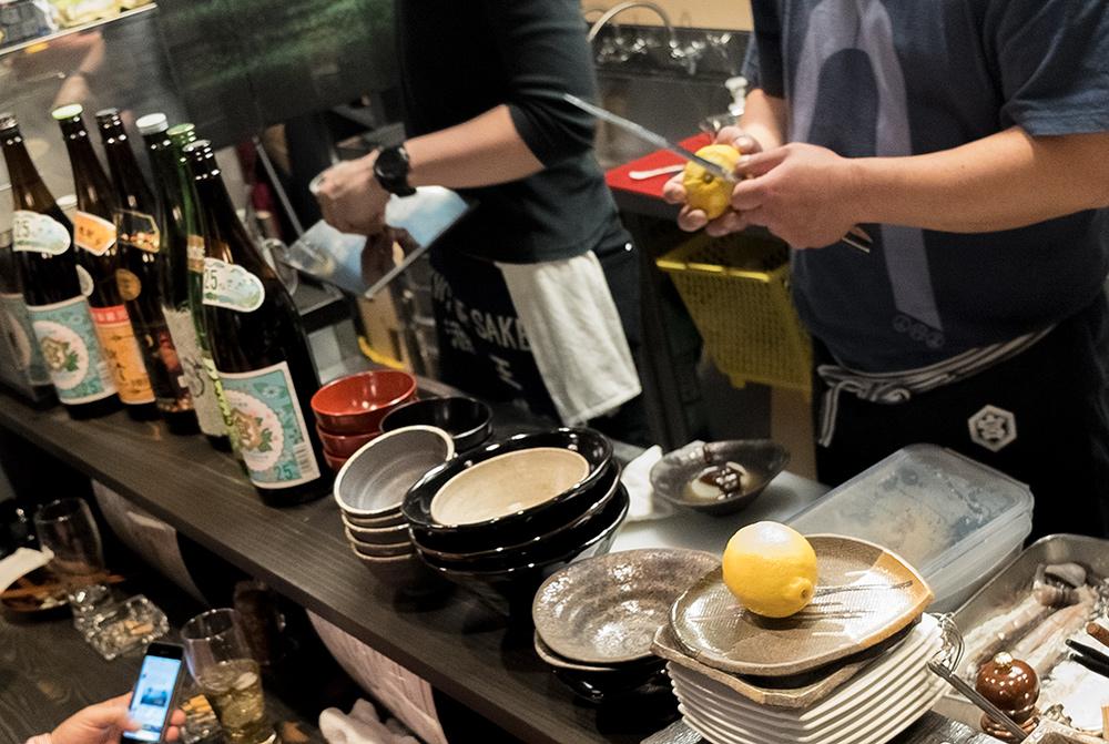 Open kitchen de l'izakaya Aitsuki あい月 Hiroshima