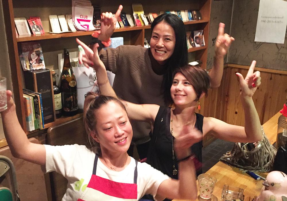 Shiho, Kotoe et moi à ChoiChoiYa