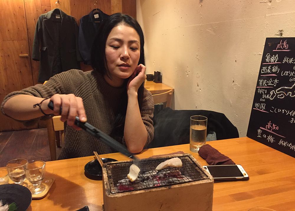 au restaurant washoku Yamatsumi, avec Kotoe