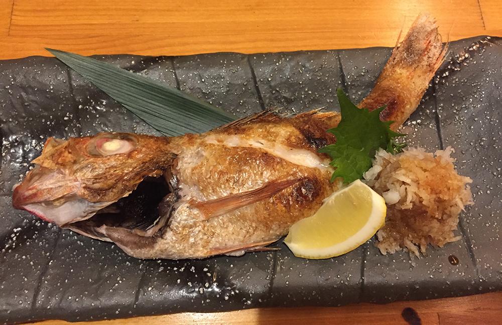 Nodoguro grillé au sel, Yamatsumi, Hiroshima