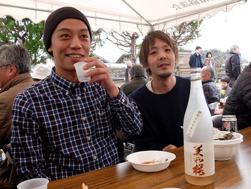 Matsuri de la brasserie de saké Miwa Sakura, Hiroshima