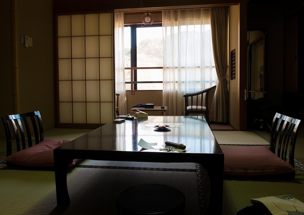 chambre de ryokan, Tamatsukuri Onsen, Préfecture de Shimane, Japon