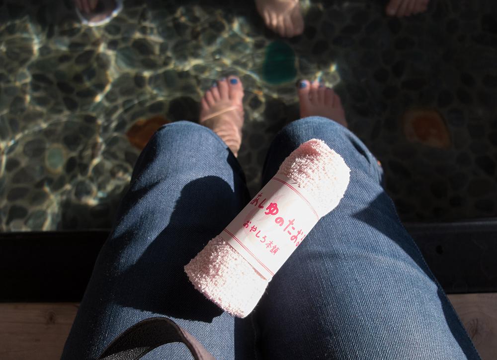 足湯 ashiyu : onsen pour les pieds