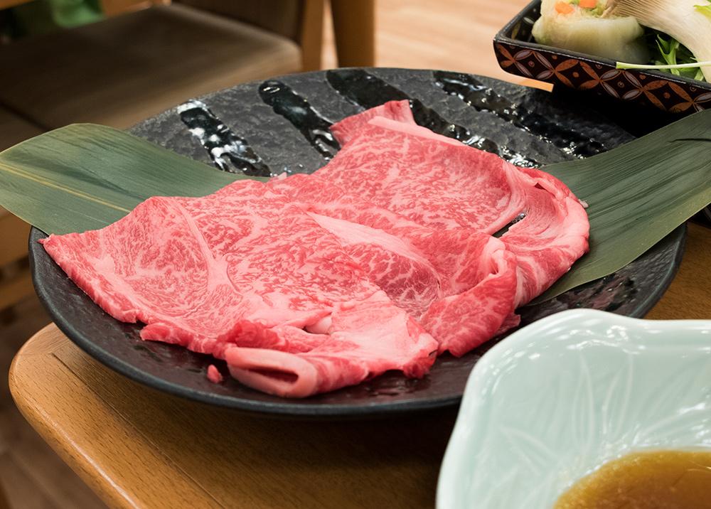 Wagyu de Shimane ultra fondant, dégusté en shabu-shabu