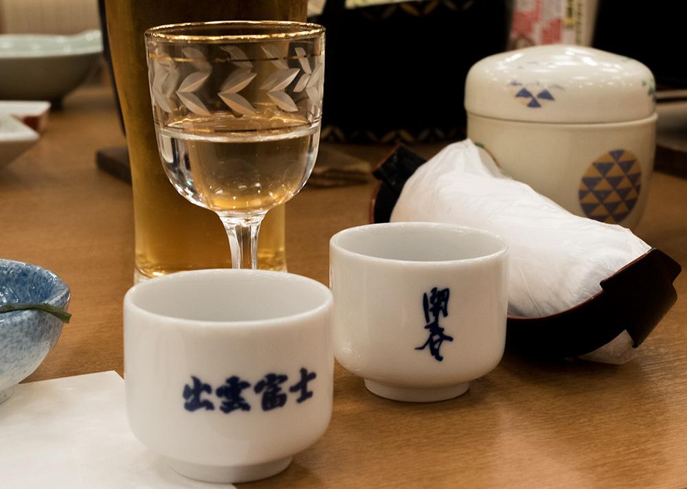 verres et o-choko de saké