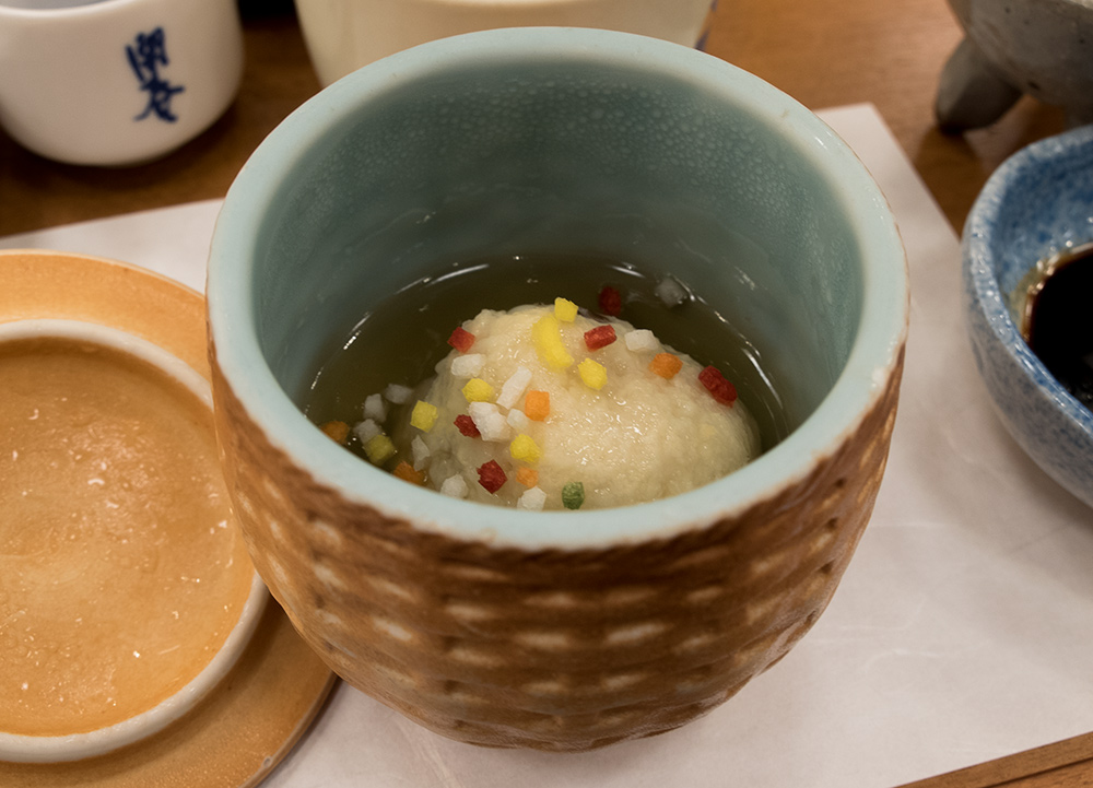 manjuu de pousse de bambou, cuisine kaiseki, ryokan