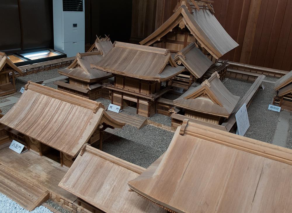 maquette du sanctuaire Izumo Taisha au 1/30e