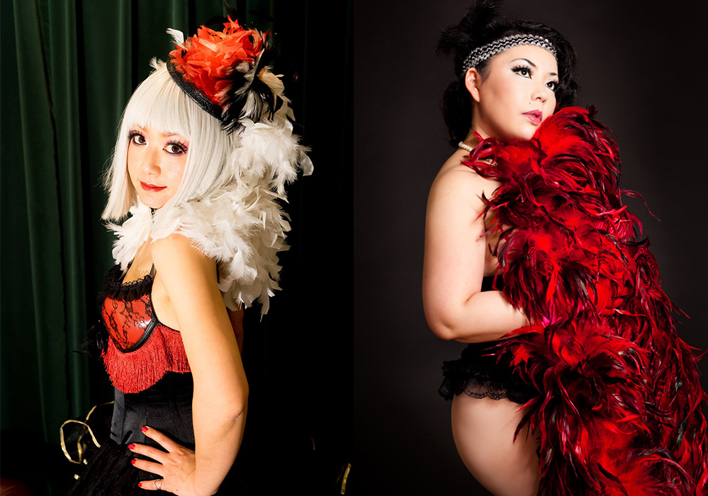 Goto Izumi & Cherry Typhoon, spectacle burlesque, Japon