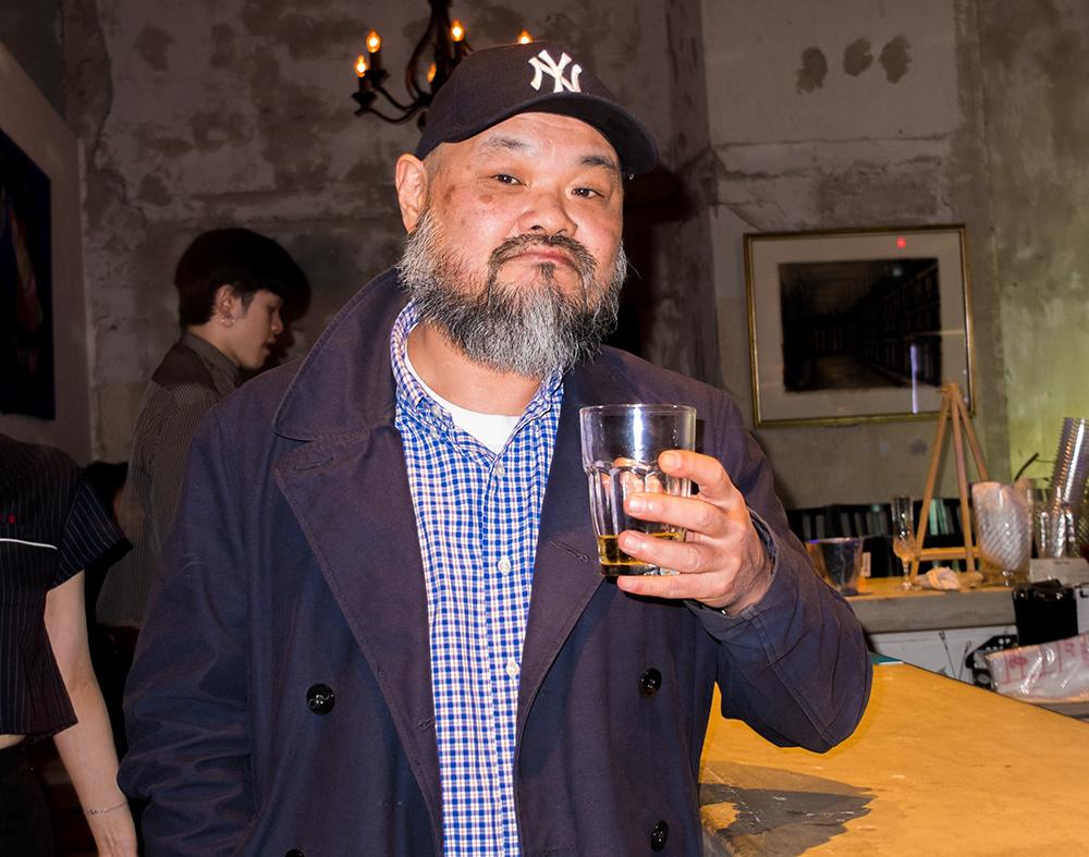 portraits de gens d'Hiroshima: japonais barbu