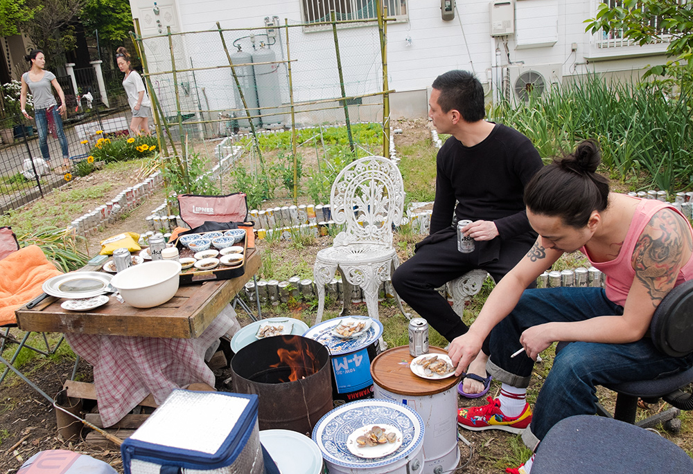 barbecue sur l'île de Kanawajima, Hiroshima, Japon