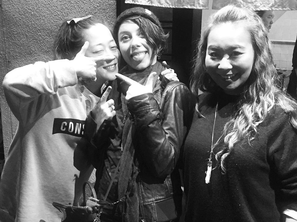 avec les copines à Hiroshima