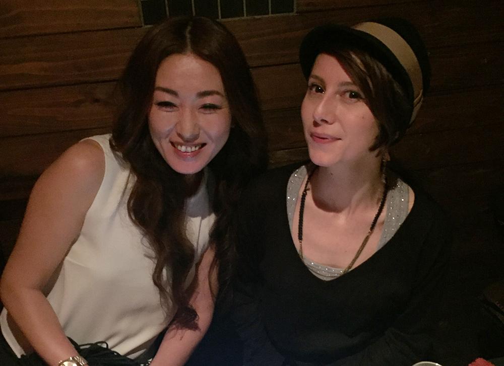 avec une copine à Il Grido, Hiroshima