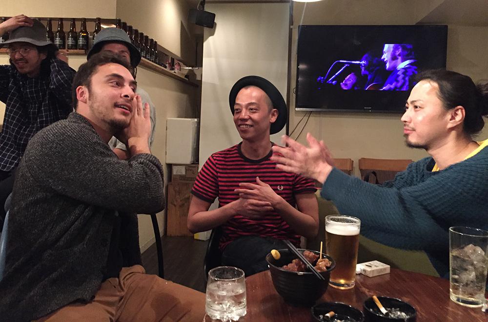 A Via Nova, le bar de Shuji (prochainement Hallelujah) avec le Gracieux et Guigui, Hiroshima
