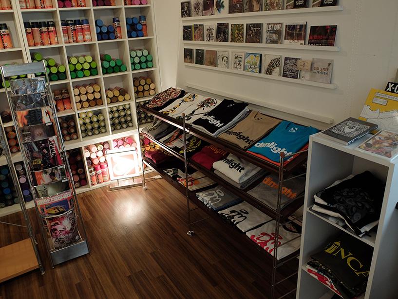 Intérieur du magasin de Suiko, Dimlight Hiroshima