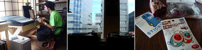 Réveil au studio, je trouve la vue magnifique... et suis toute fière de mes achats...