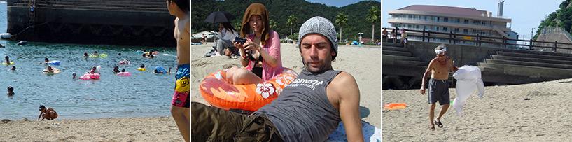 J'ai découvert que cette histoire de bouée ça déconnait pas et que les Japonais ne savaient pas nager
