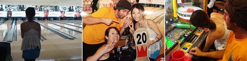J'ai bêtement été surprise qu'on puisse amener de l'alcool au bowling mais ai vite réalisé qu'au Japon toute activité en dehors du travail se faisait AVEC de l'alcool