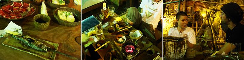 Et comme 'Sanzoku' signifie PIrate de montagne, on mange comme des pirates, sur des pics de bambou
