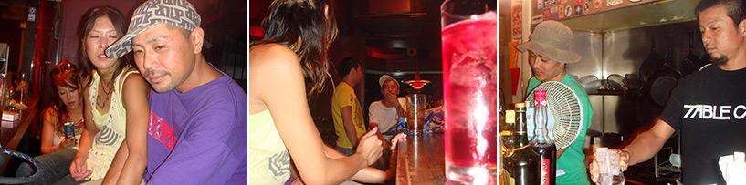 Et pour finir ce hashigo (passage de restaus en bars) : Opium et Koba avec Bom et Kenta