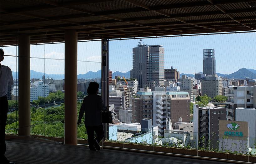 Vue depuis la Hiroshima Orizuru Tower