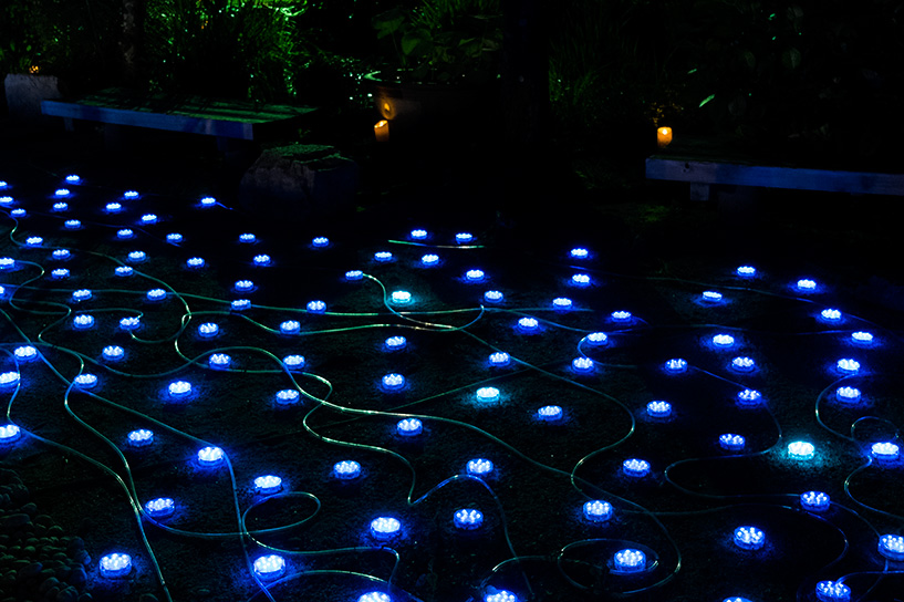 Illuminations pour Tanabata au jardin Shukkei-en Hiroshima