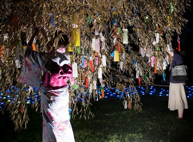 tanabata jardin shukkei-en Hiroshima yukata
