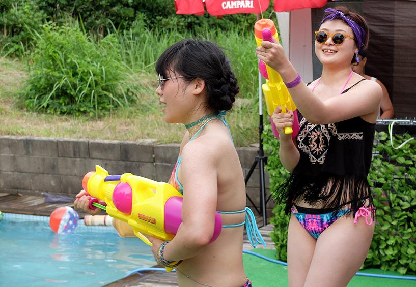 japonaises piscine pistolet à eau