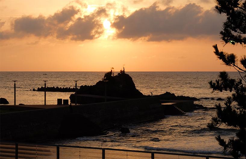 coucher de soleil Hamada Japon