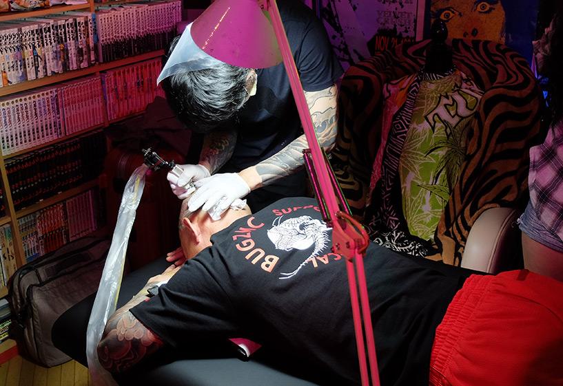 tatouage sur le crâne, Japon Hiroshima