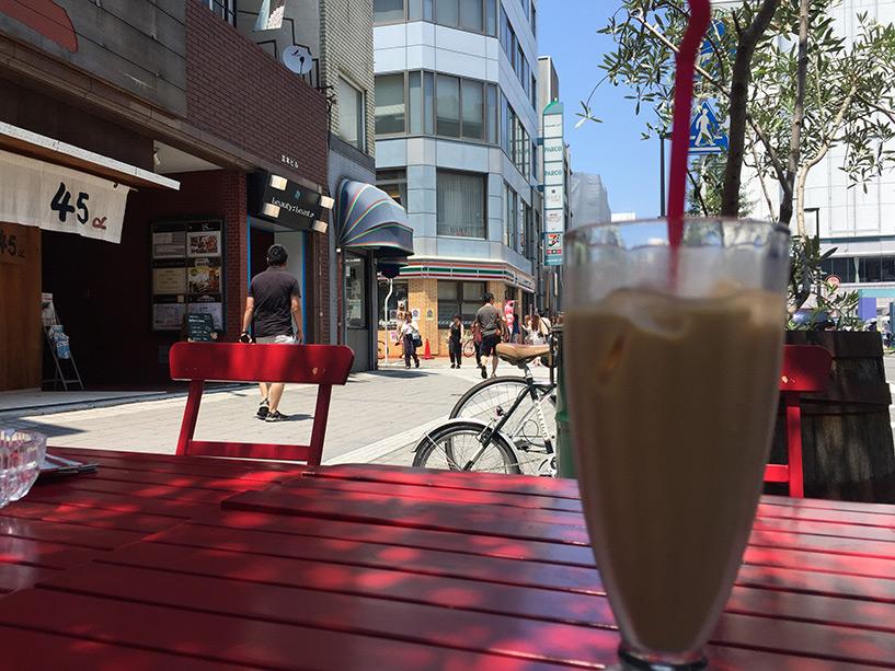 New York New York le matin pour un café latte