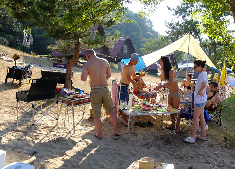 camping et barbecue au Japon