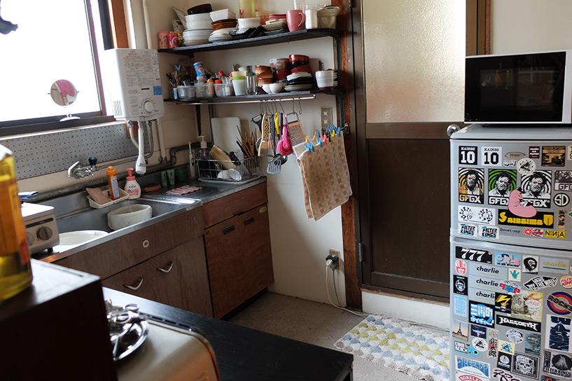 cuisine dans un appartement japonais