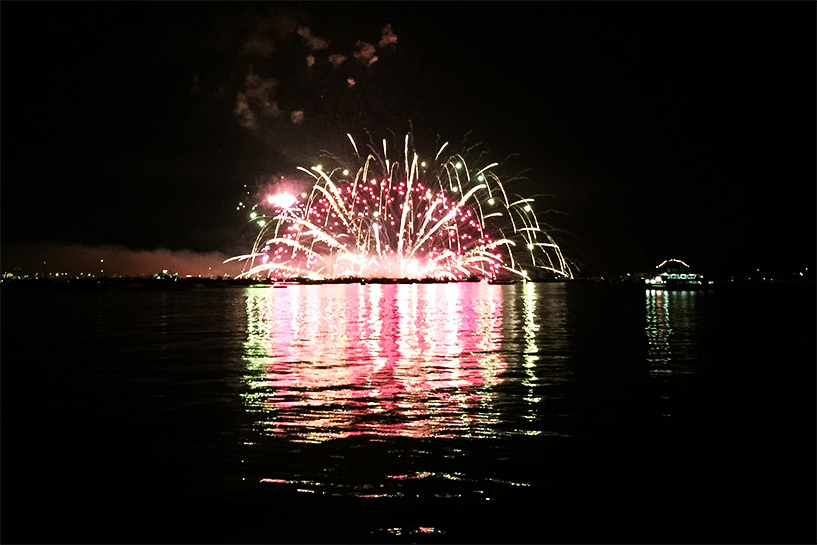 feux d'artifice de Miyajima