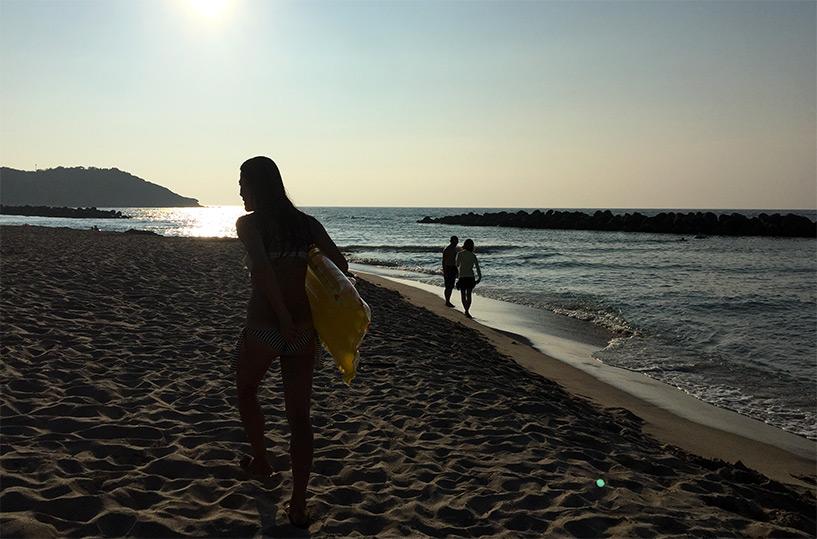 coucher de soleil plage de Hamada Japon
