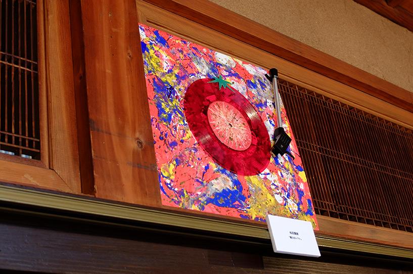 expositio de vinyles au Rakuda Café, Yokogawa, Hiroshima