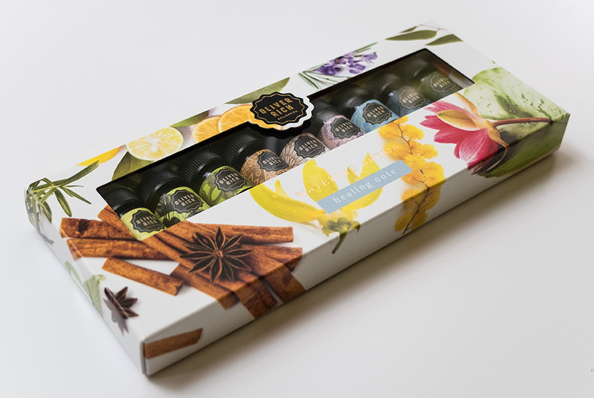 Packaging design mini sets OLIVER RICH watering aroma