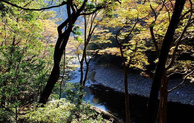 Sandankyo paysage d'automne