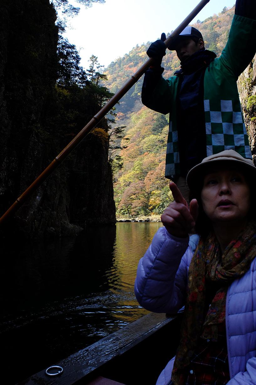 La traversée de Kurobuchi en bateau