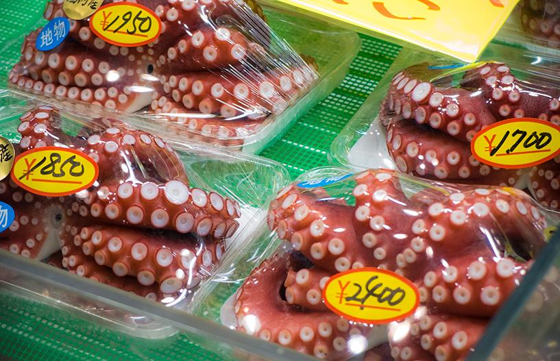 poulpe au marché de Karato, Shimonoseki, Yamaguchi