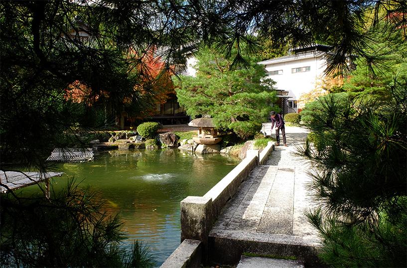 jardin du ryokan Sansuien