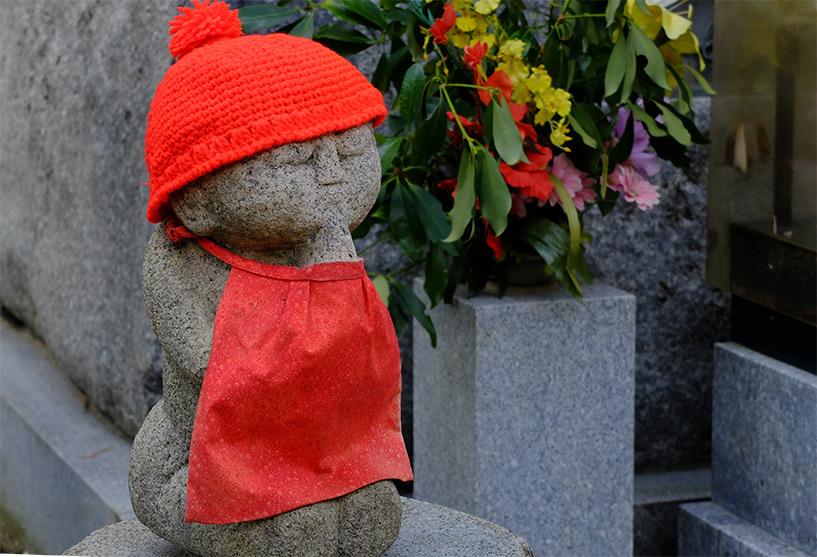 statuette jizo au temple Ruriko-ji, Yamaguchi